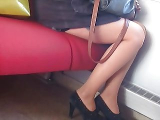 sexy legs on train