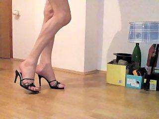 My walking in sexy high heels