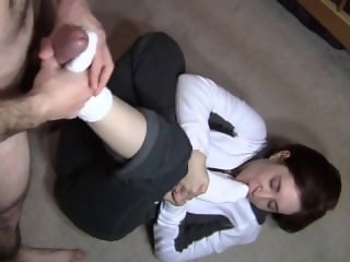 wife's white socks footjob (no music)