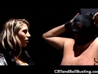 CBT Mistress tortures slaves cock for cheating