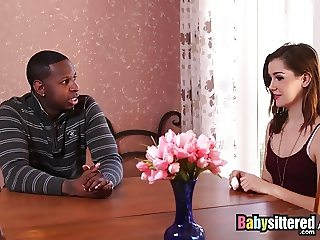 Babysittered - stepfather with a BBC Fucks the Babysitter