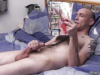 Hot blonde plumper riding married man's cock