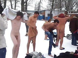 Mixed Group Skinny Dipping