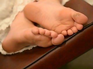 Candid Sleepy Feet