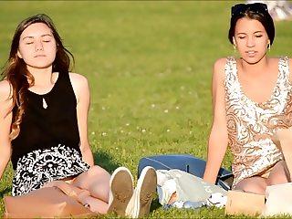 SpyCams Voyeur Public park Ups Girls