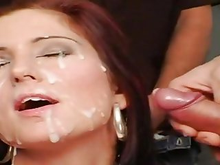 Facial cumbath nice girl