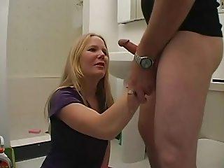 Cleaning Lady Boss Handjob