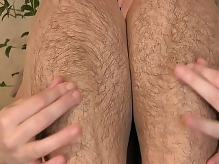 Hairy legs in stocking