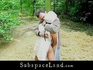 Slave whipped in the woods and fingered in the basement