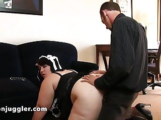Alexxxis Allure chubby maid takes it doggy