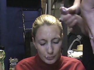 hard facial for submissive wife - sadistic husband