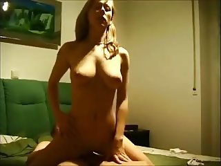 Hot blonde on real homemade