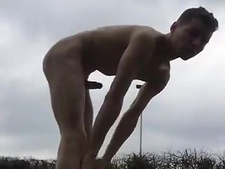 public wanking on the roadside by twink