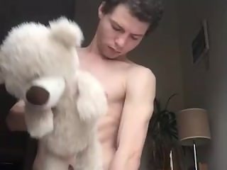 Adorable twink teddy bear fuck and cum