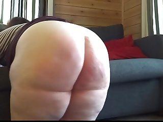 Big booty brit gets spanked