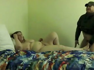Chubby wife, sex with 2 strangers & hub gets sloppy 2nds
