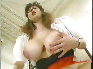 Busty waitress