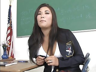 Sexy schoolgirl London gets fucked on the teacher's desk
