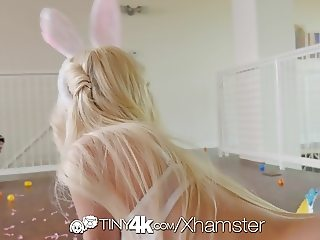 Tiny4K - Piper Perri and Preston are having easter sex
