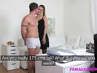 FemaleAgent Nervous stud licks hot agents pussy