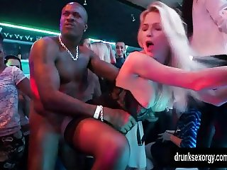 Slutty pornstars fucking in a club