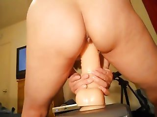 Chinese wife and her huge dildo