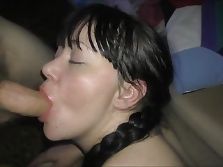 Not beautiful russian whore sucked cock!