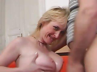 Busty blonde hungarian milf Monik (Monika) fucked by Leslie