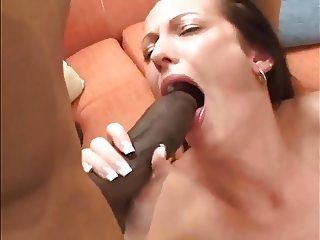 White Girl In Rough Interracial Threesome