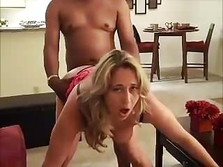 Blonde beauty experiences her first BBC.