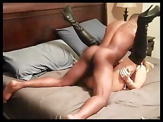 BBC makes wife grunt and soak the bed!