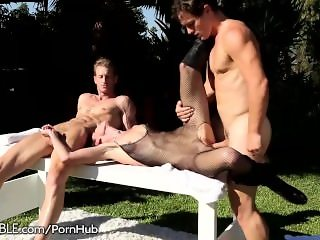 India Summer Public Glory Hole and Creampied