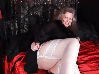 Stockings Mature BBW White Beautiful Fat Legs