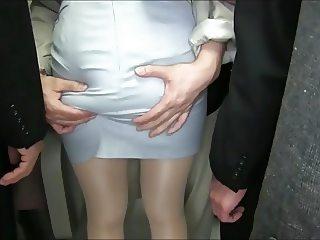 Yukine Sakuragi ass groping 6