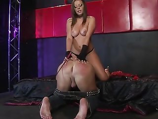 Horny Mistress fucking, and allowing her slave to fuck her