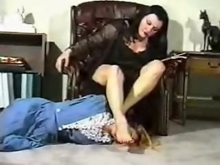 Mature foot domination
