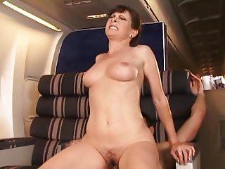 Classic Mature Stewardess Anal