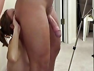 MILF sucks, fucks and rims for facial.