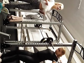 Fitness Teens Squating