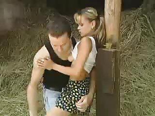 SB3 Tiny Teen Gets Fucked In The Barn !