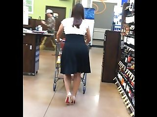 Sexy High Heels Latina in Black Dress