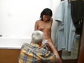 NOT Dad helps Teen in Bathroom