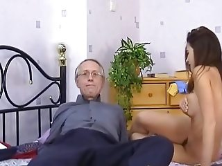 old play with young babe