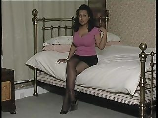 Mature, Heels, Pantyhose and Big Tits