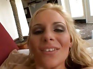 Shaved pussy milf eat cum