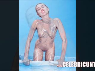 Miley Cyrus Naked Pussy and Tits Video Full Compilation