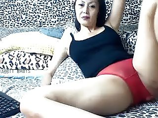 Mature In Red Panties