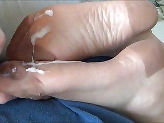 Cock Rub on Vintage RHT Stockings