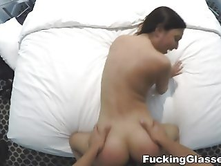 Fucking Glasses - Petite gagger fucked for fun
