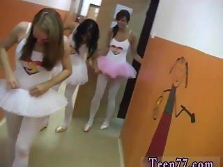 Brunette schoolgirl Hot ballet girl orgy